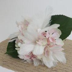 Fjädrar till blomma/ris 12- pack - vit
