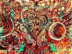 "Zendoodle Painting | Acrylic on Paper 11x17"" ©WhiteVioletArt… | Flickr"