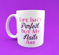 Life Isnt Perfect But My Nails Are, Boss Babe Coffee Mug. Boss Babe on back side of the mug. Pink and dark purple fonts. Great gift for Jamberry sellers!  11 oz Ceramic Mug. These coffee mugs are dishwasher safe but we always recommend hand washing for prolonging the life.  Size, colors, and orientation can vary slightly from what you see on your computer screen.  ***Find Us On Instagram https://instagram.com/mini_masterpieces_az/ or our website www.MiniMasterpiecesAZ.com***  ***Also…