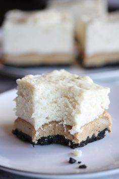 These Peanut Butter No-Bake Marshmallow Cheesecake Bars create an impressive dessert that will 'wow' family and friends. We love this recipe as a luscious after-dinner dessert! Marshmallow Cheesecake, Cheesecake Bars, Cheesecake Recipes, Dessert Recipes, Peanut Butter No Bake, Peanut Butter Recipes, Just Desserts, Delicious Desserts, Yummy Food