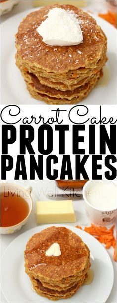Nourishing carrot ca  Nourishing carrot cake for breakfast is possible with these delicious gluten free pancakes full of protein! Carrot Cake Protein Pancakes from @memeinge