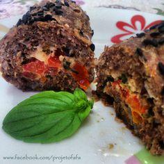Mini rocambole de carne com quinoa e aveia