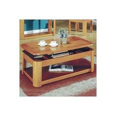 Steve Silver Primo Rectangular Lift-Top Oak Coffee Table with Casters