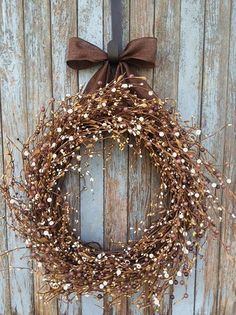 Brown and Ivory Pip Berry WreathPip Berry by WhimsyChicDesigns