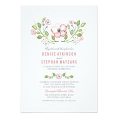 Shop Pink Floral Watercolor Engagement Party Invitation created by jinaiji. Rehearsal Dinner Invitations, Engagement Party Invitations, Pink Invitations, Invitation Paper, Watercolor Wedding Invitations, Floral Invitation, Rehearsal Dinners, Bridal Shower Invitations, Custom Invitations