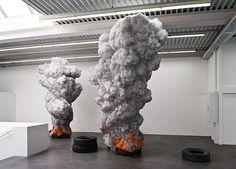 Billowing Tire Sculptures Address Global Pollution - My Modern Metropolis