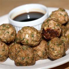 Chinese-style turkey meatballs