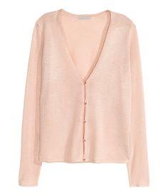 Fine-knit cardigan | Powder | Ladies | H&M AU