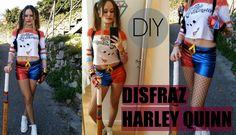 DIY difraz de harley quinn completo. Tutorial. #camiseta #bate #pantalón #complementos #cinturón #choker #pulseras #pistoleras #guante