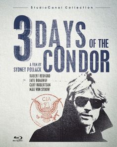 Three Days of the Condor (1975), Robert Redford, Faye Dunaway, Max von Sydow, Cliff Robertson, John Houseman; directed by Sydney Pollack