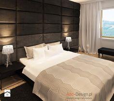 Apartamentowiec w górach, w Szklarskiej Porębie - Duża sypialnia małżeńska, styl…