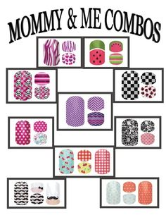 What little girl doesn't like to dress up just like mommy?!?  Introducing matching designs for Mommy and Me! Order today at: www.andraziemnick.jamberrynails.net