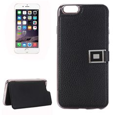 [$3.50] For iPhone 6 Plus & 6s Plus Litchi Texture Horizontal Flip Leather Case with Holder & Card Slots(Black)