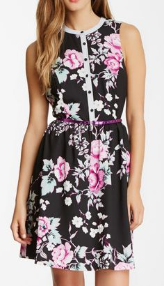 Kensie Belted Floral Print Dress - Perfect for a Spring Bridesmaid!