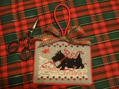 Scottie Ornament pattern in 2009 Just Cross Stitch Christmas Ornaments