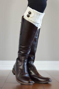 Cream Two Button Boot Cuffs