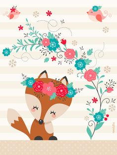 fox in the garden - Kleiner Fuchs im Garten – Little fox in the garden – the - fox in the garden - Kleiner Fuchs im Garten – Little fox in the garden – the - Apenas algumas coisas que encontro na internet e gostaria de comparti… Humor amr. Woodland Creatures, Woodland Animals, Nursery Prints, Nursery Art, Cute Images, Cute Pictures, Vintage Illustration, Happy Planner, Cute Drawings