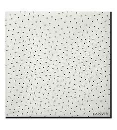 LANVIN Polka Dot Silk Pocket Square. #lanvin #pocket squares
