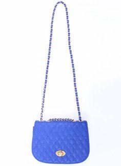 Cobalt Quilted Bag
