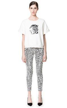 ZARA - Animal Print Trousers