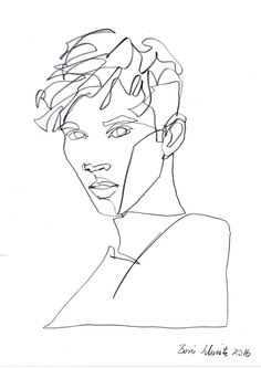 """Troye Sivan 5″, continuous line drawing by Boris Schmitz"