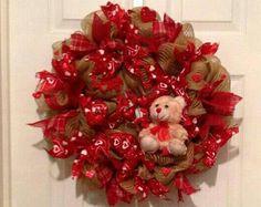 Valentine's Day Wreath Valentine Day Decor by CollectionsbyKG