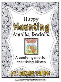 Classroom Freebies: Happy Haunting Amelia Bedelia - Idiom Center Game
