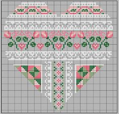 no color chart available, just use the pattern chart as your color guide. or choose your own colors. COEUR SAINT-VALENTIN Plus Cross Stitch Heart, Cross Stitch Borders, Cross Stitch Flowers, Counted Cross Stitch Patterns, Cross Stitch Designs, Cross Stitching, Embroidery Hearts, Cross Stitch Embroidery, Wedding Cross Stitch Patterns