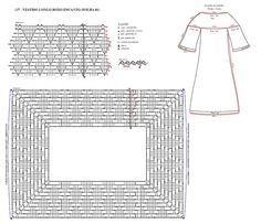 Material: Charming Slim 6 November 6313 in color (purple); Ag to crochet circle Fabric for the lining; Scissors used poi. This Pin was discovered by Syl Filet Crochet, Crochet Stitches Chart, Crochet Yoke, Mode Crochet, Crochet Collar, Crochet Diagram, Crochet Blouse, Crochet Patterns, Diy Crafts Crochet