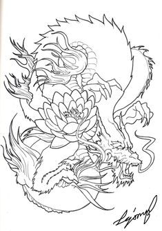 Japanese Dragon Tattoo Designs | Japanese Dragon by Drito