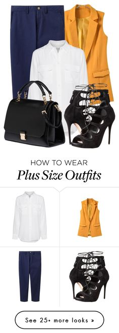 """Pretty Plus-Size Style"" by yuliasaburova on Polyvore featuring Joules, Equipment, Alexander McQueen and Miu Miu"