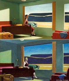 If It's Hip, It's Here (Archives): 13 Edward Hopper Paintings Are Recreated As Sets For Indie Film 'Shirley - Visions of Reality. Shirley Visions Of Reality, Hooper Edward, Edouard Hopper, Edward Hopper Paintings, Tableaux Vivants, Wassily Kandinsky, Art Plastique, Vincent Van Gogh, Equine Art