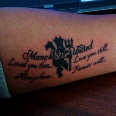 One @manutd fan shows their support with this arm tattoo.