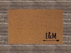 CUSTOM INITIALS WITH ARROW DOOR MAT Custom door mat with the initials of you and your significant other!