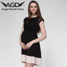 Find More Dresses Information about Spring Summer New Pregnant Woman Maternity Dress Clothing Clothes Beauty Lace Stitching Color Large Size European And American,High Quality dresses graduation,China clothes pig Suppliers, Cheap clothes 2000 from Angel Growth Diary on Aliexpress.com