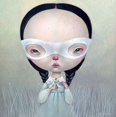 """He loves me not"" by Dilka Bear http://www.etsy.com/shop/dilkabear"