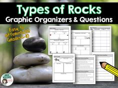 Types of Rocks Graphic Organizers and Review Questions ($)