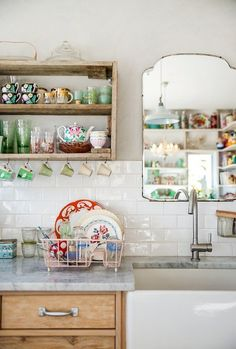 Weekend Room Refresh: 7 Kitchens Made Better With a Mirror