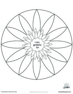 Some gratitude mandalas to color and fill.  There are two blank ones and one in color for you to explore the beauty and simplicity of gratitude. http://www.plantlovegrow.com/gratitude.html
