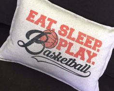 Personalized Girls Basketball Pillow printed in by ThePillowshack