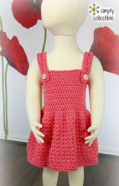 Crochet Dress Pattern - Pretty, Pretty Princess -SimplyCollectibleCrochet.com 6mo, 9mo, 12mo, 2T, 3T, 4T, and 5T… I love this dress! It is precious and reversible. Not only is it reversible, but I've included the instruction for adjustable straps AND alteration if your find you need another inch! See the alternation video already available. http://simplycollectiblecrochet.com/2017/07/reversible-crochet-baby-dress-pattern-pretty-pretty-princess/
