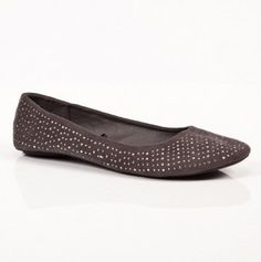 Ladies Suede Embelished Flats