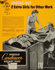Image detail for -1943 Ad Diebold Cardineer Rotary Files Office Equipment Business ...
