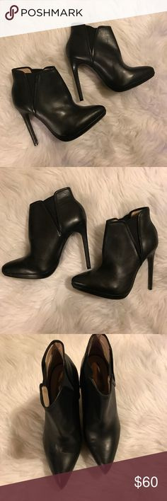 TopShop New leather topshop high heel booties. Women's Eur 39 equivalent to U.S 7.5-8. Topshop Shoes Ankle Boots & Booties