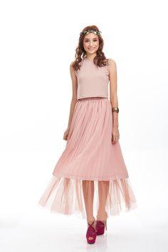 Pretty In Pink   #stylebysyaxseacitizen #seacitizencom http://www.sea-citizen.com/stylebysya-carnation-blush-tulle-skirt