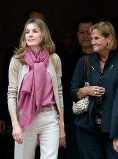 Queen Letizia of Spain Solid Scarf - Queen Letizia of Spain Accessories - StyleBistro