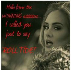 Adele Alabama Football