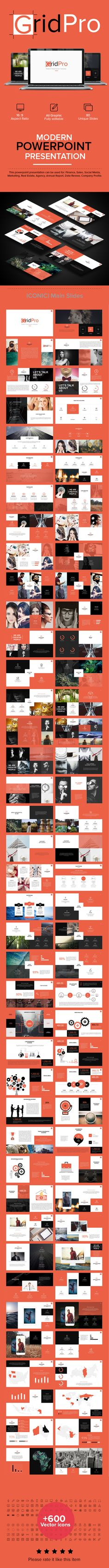 Grid Pro PowerPoint Template. Download here…