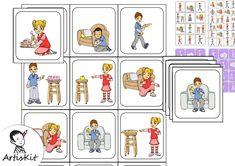 ORTHOPHONIE - L.E. Morphosyntaxe 🟣 2 sujets, 4 verbes, 3 COD Travail sur l'expression Compréhension de phrases de type : Sujet - verbe - objet Memory, pace, loto Auteur : Sylvie Clavier ArtisKit ⭐️⭐️⭐️⭐️ C'est une mine de ressources ! 🟪 Vous découvrez ArtisKit ! Visitez la plateforme de partage d'ArtisKit www.artiskit.net #orthophonie Expressions, Phrases, Playing Cards, Comics, Verb Words, Speech Language Therapy, Keyboard, Platform, Brother