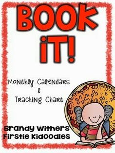 Monthly Calendars and a Tracking Sheet for BookIT! updated in my store for FREE! Firstie Kidoodles